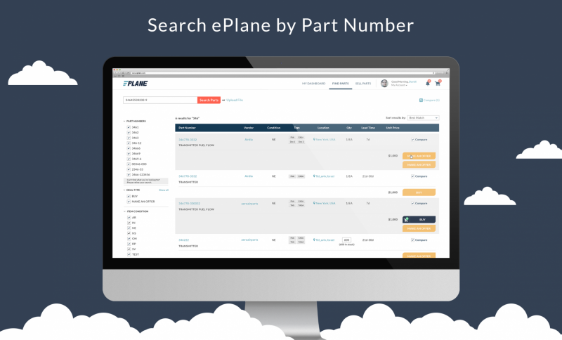 Search ePlane by Part Number
