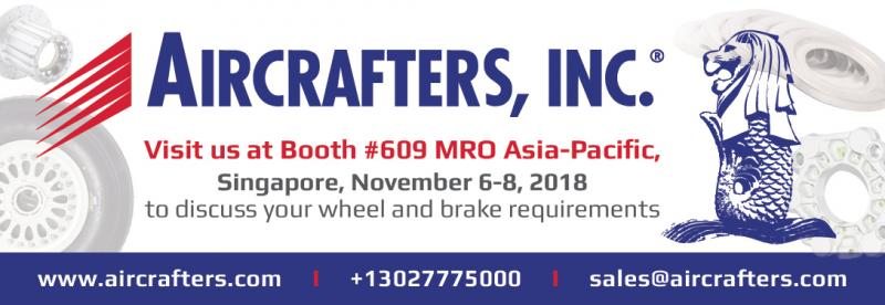 Booth 609 at MRO Asia in Singapore