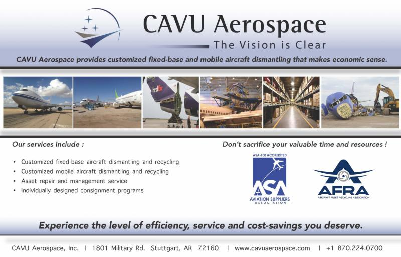CAVU Aerospace Inc offers the most efficient solutions to aircraft disassembly and asset management by offering our R.A.M.P.™ (Recycling & Asset Management Program) and CAVUSmartTags™ programs