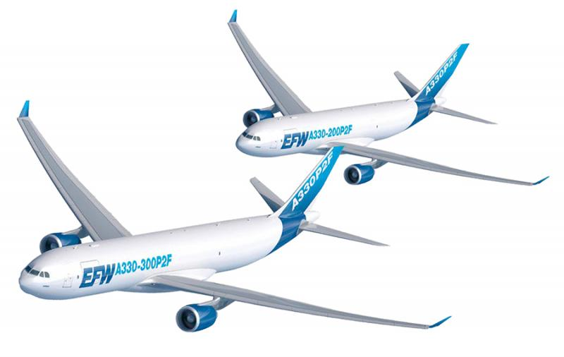 EFW Freighter Conversions for A300, A310, A320, A321, A330
