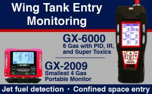 Wing Tank Entry Gas Monitoring