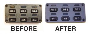 Hutchinson Stop-choc Cockpit Panel Refurbishment BeforeAfter