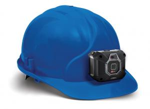 Onsight Cube may be mounted to a hardhat.