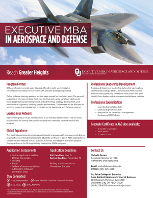 University of Oklahoma 12-Month EMBA